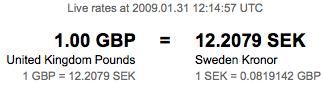 GBP - SEK