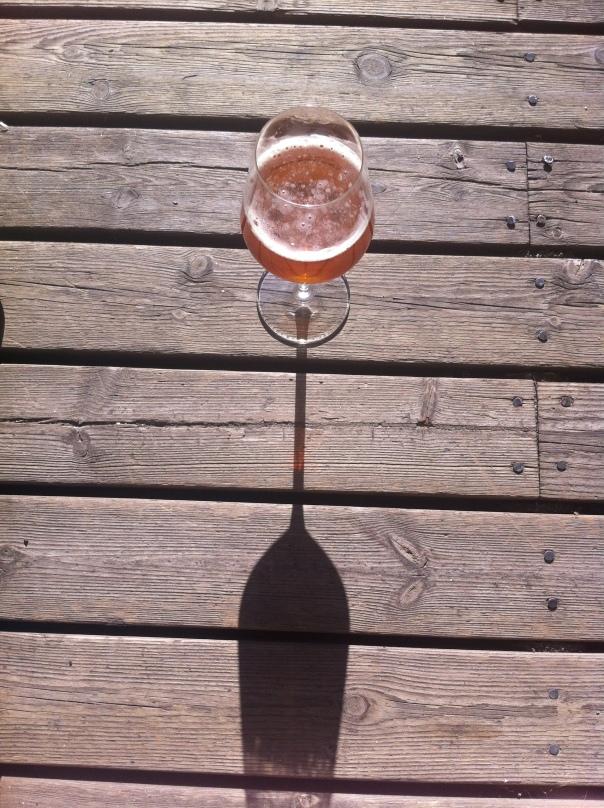 Ölglas i solen