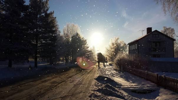 Vinter, Umeå